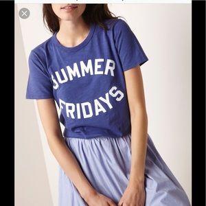 """J Crew Vintage """" Summer Fridays"""" tee"""